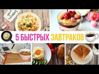 🍳Что приготовить на завтрак? 5 БЫСТРЫХ ЗАВТРАКОВ ☕️Простые рецепты Olya Pins