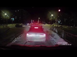 ДТП Барнаул пересечение Попова-Взлетная 17.12.2016