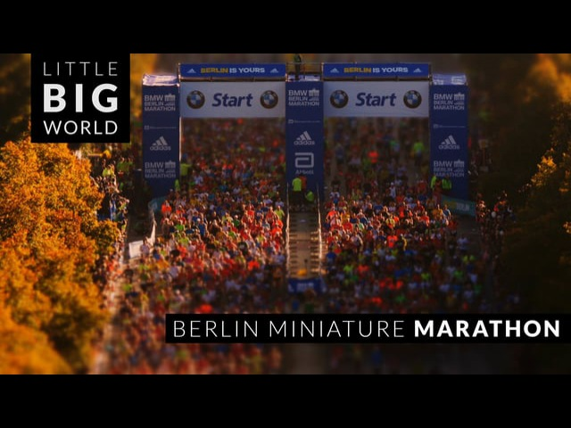Berlin Miniature Marathon (Time Lapse - Tilt Shift)