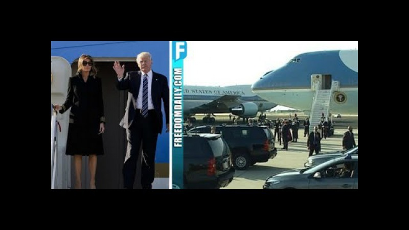 Trumps Just Landed In Italy Everyone Immediately Noticed What Showed Up Right Behind Air Force One