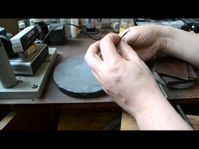 Изготовление прорезного штихеля