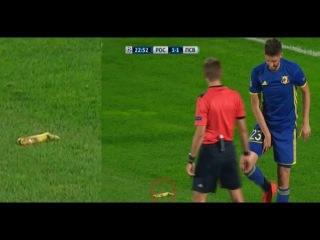 Бросили банан Ростов 2:2 ПСВ Лига чемпионов Threw the banana Rostov 2:2 PSV Champions League