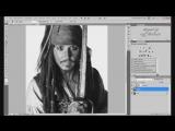 Стилизация фото под карандаш