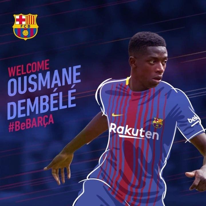 "Rasman! Dembele ""Barcelona"" futbolchisi"