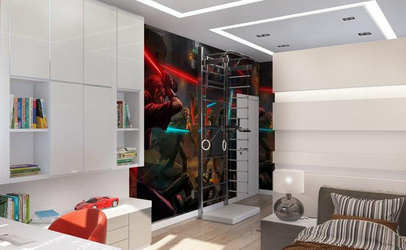 Проект детской комнаты для мальчика