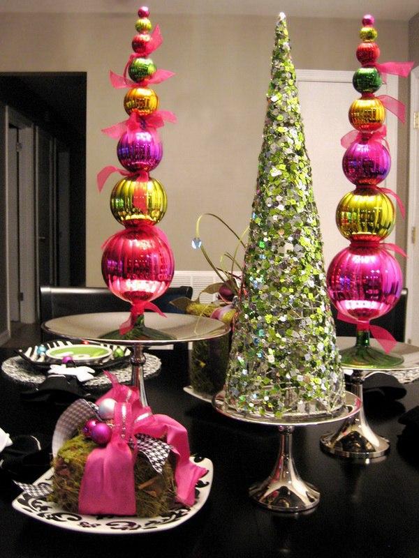 Новогодние шары в интерьере