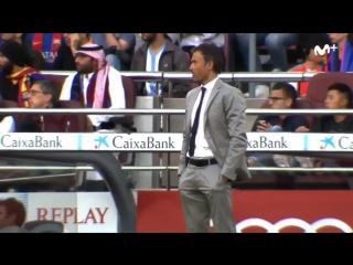 Реакция скамейки Барселоны на события в матче Малага - Реал