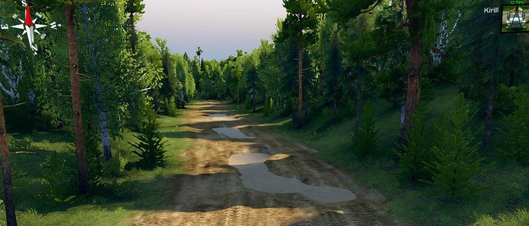 Карта «Объезд» для Spintires - Скриншот 1