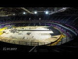 Check out this great timelapse of the track being built ahead of the Belgrade 2017 European Athletics Indoor Championships