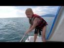 Море Отдых Сочи Адлер 2017 Экстрим для малышей. Катаемся на катамаране. Дети на море