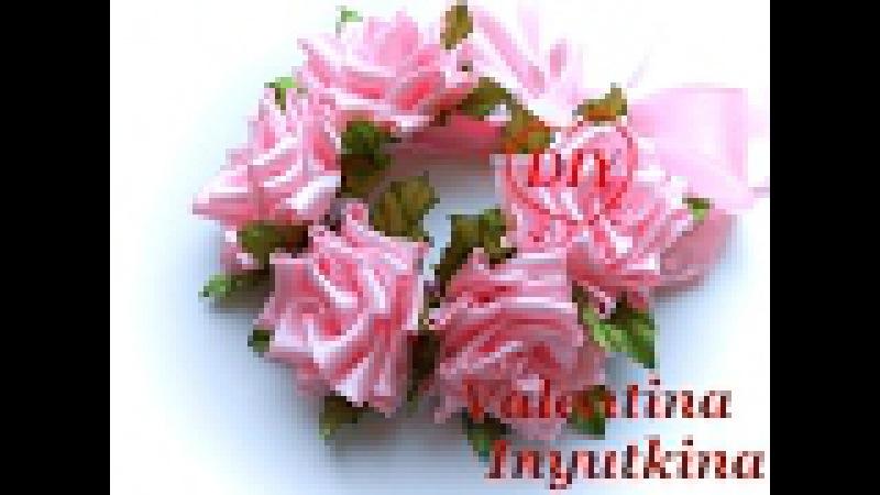 Резинка-повязка на гульку Розовые мечты Валентина Инюткина МK DIY the hair ornament with roses