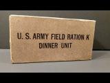 1943 US Army Field Ration K Dinner Unit WW2 MRE Review Oldest Eaten &amp Cigarette Smoked Taste Test