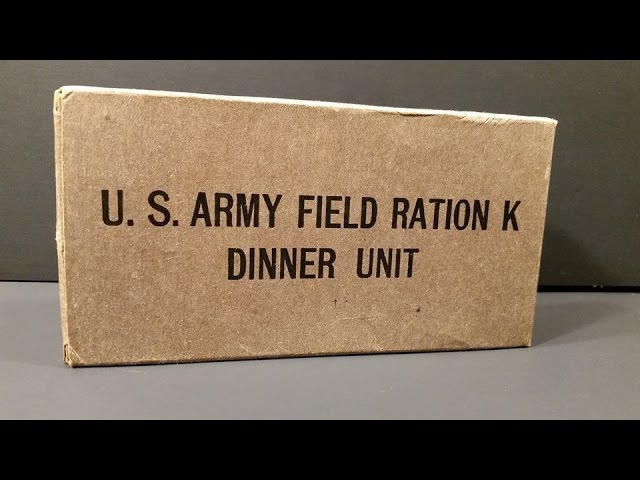 1943 US Army Field Ration K Dinner Unit WW2 MRE Review Oldest Eaten Cigarette Smoked Taste Test