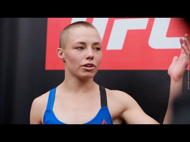 Rose Namajunas UFC on FOX 24 Open Workout Scrum - MMA Fighting