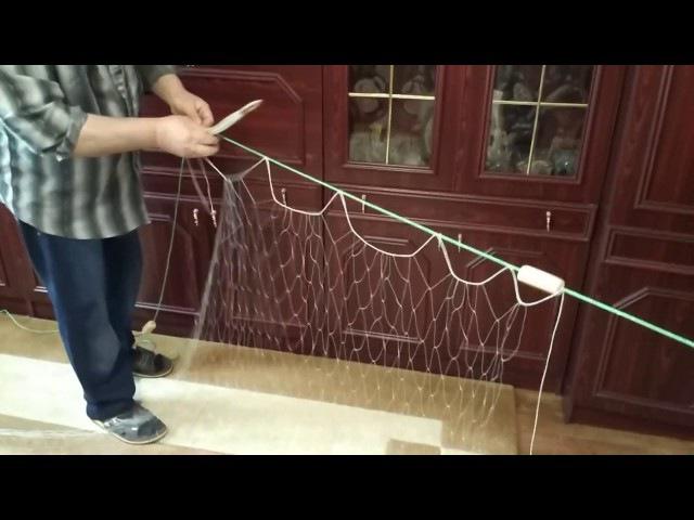 Расчет и метод посадки рыбацких сетей (рамованая)