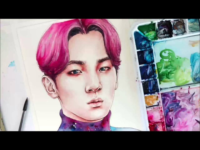 NOCTURNE | SHINee KEY Watercolor Speed Paint