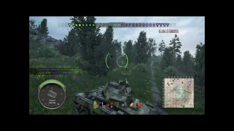 World of Tanks PS4 M24 Chaffee three marks / три отметки 1