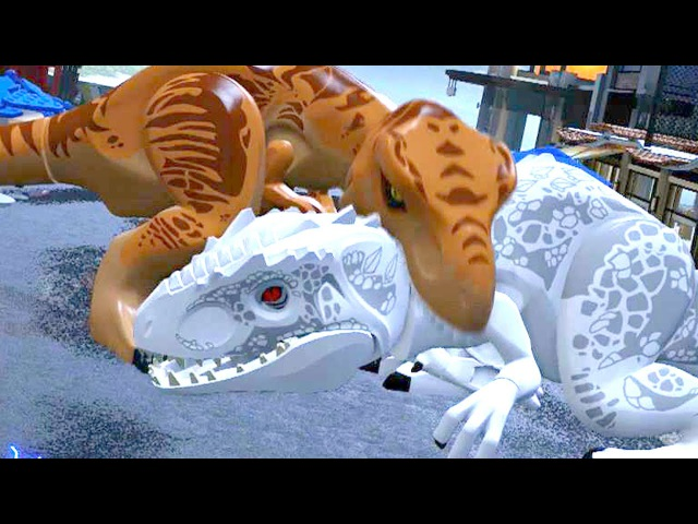LEGO Jurassic World - Indominus Rex VS T-Rex Ending [Full Battle]