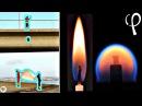 Огонь в свободном падении - редкий физический эксперимент