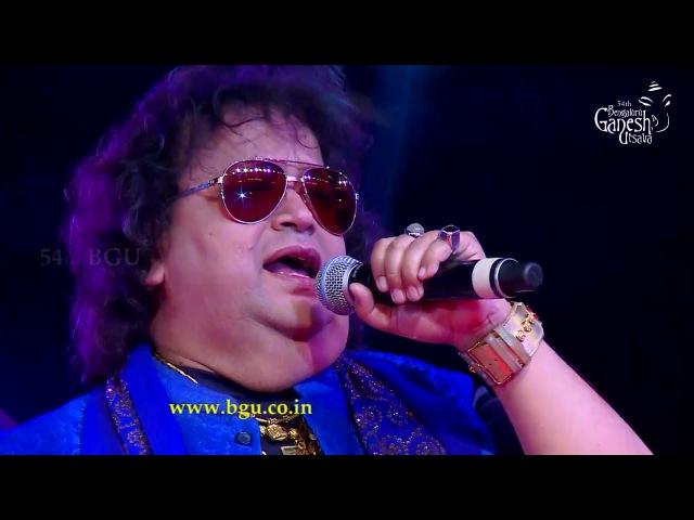 Bappi Lahiri singing Yaad Aa Raha Hai @ 54th Bengaluru Ganesh Utsava