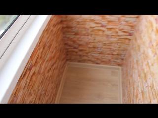 Наша работа. Установка лоджии с крышей. Внутренняя обшивка стен и потолка панелями ПВХ, настил пола фанерой+ линолеум.