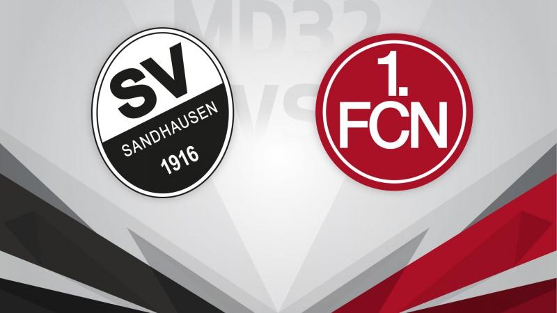 «Зандхаузен» - «Нюрнберг» 0:1 | (06.05.2017) | Чемпионат Гeрмании. 2-я Бундеслига 2016-17 | 32-й тур | HD