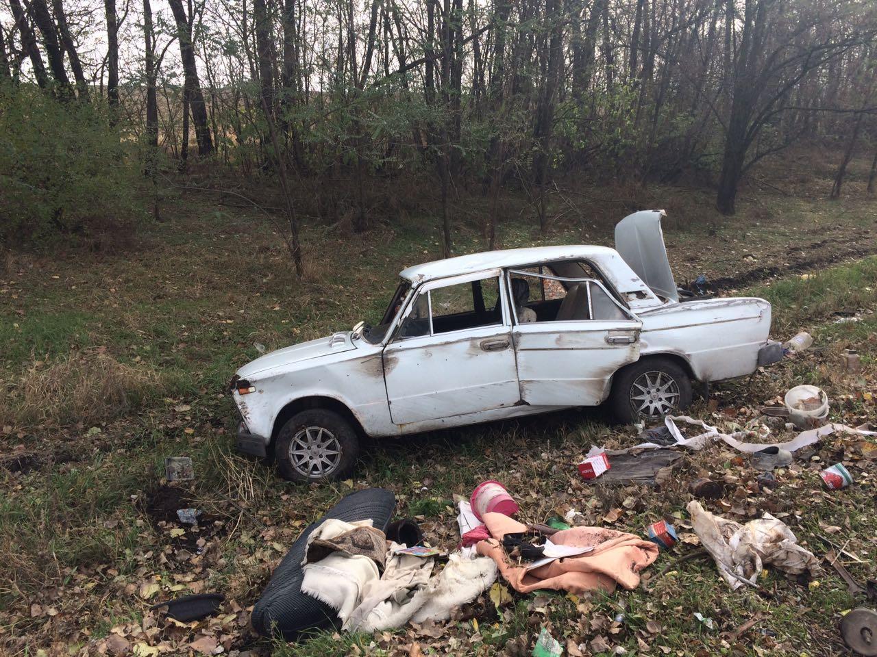 На трассе «Ростов-Таганрог» перевернулся «ВАЗ», один пострадавший