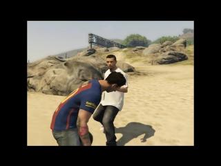 Месси надавал Роналду по морде в GTA 5, вступившись за Алекс Морган