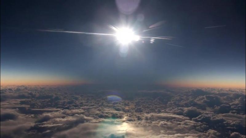 Солнечное затмение в марте 2016 во время перелета с Аляски на Гвайи