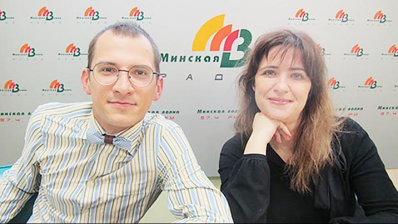 Анастасия Гриненко и Анатолий Лагутенков на радио Минская волна