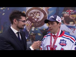 Павел Дацюк на чемпионском параде СКА