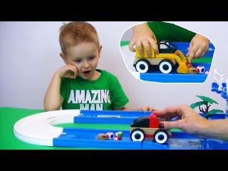 Собираем кубики на дороге Детские игры в кубики и машинки