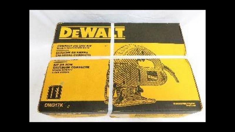 Лобзик DeWalt Распаковка и Первый Взгляд (DW317K Orbital Jig Saw)