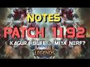 Notas del Parche 1.1.92 | ¡¿Buff Kagura Nerf Miya?! | Otros Cambios Importantes | Mobile Legends |