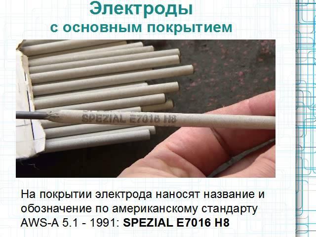 ручная дуговая сварка. виды покрытий электродов