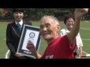 105-летний Миядзаки бежит стометровку