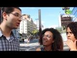 Fomos na Parada Gay apresentar os projetos do Jean Wyllys...quer dizer do BOLSONARO!