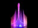 Олимпийский парк в Сочи, цветные фонтаны под Виктора Цоя