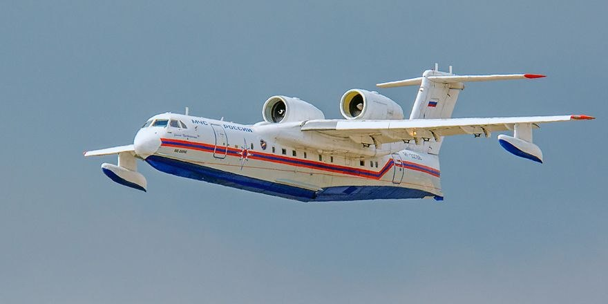 Прибытие из Израиля самолета БЕ 200