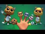 котята палец семьи  3d детские стишки для детей  бэби стишки  Kids Song  Kittens Finger Family