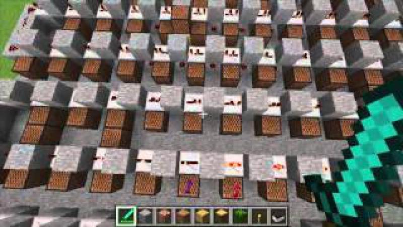 Seven Nation Army Craft With Noteblocks In Minecraft