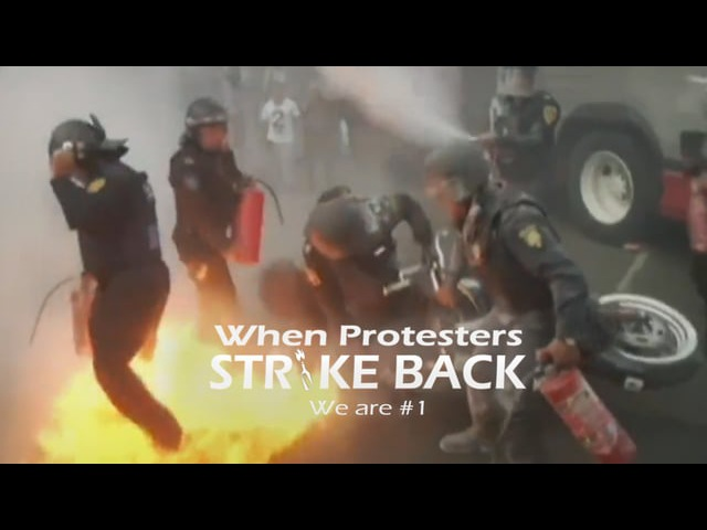 When Protesters Strike Back: We are 1
