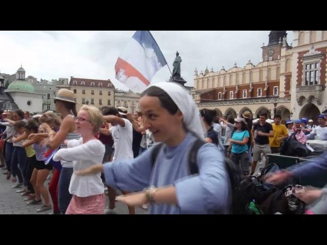 Wesoła zakonnica w Krakowie Światowe Dni Młodziedży Funny nun World Youth Day Cracow