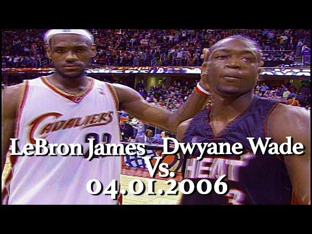 Dwyane Wade vs LeBron James | 04.01.2006| LBJ 47pts 9a 12r, Wade 44pts 9a 8r) NBANews NBA
