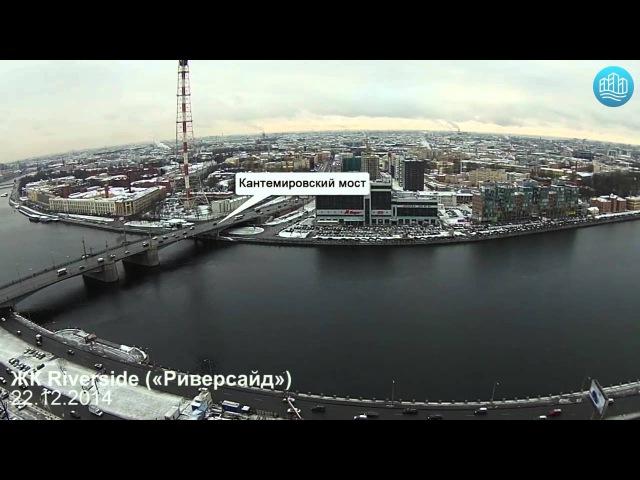 ЖК Riverside («Риверсайд») на Ушаковской набержной — съёмка с воздуха