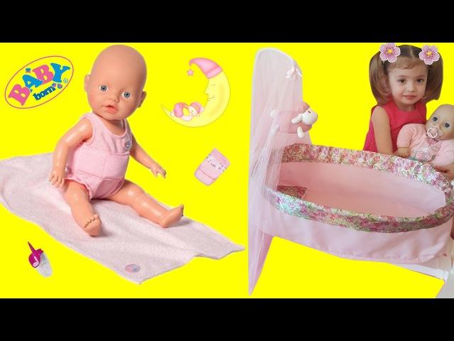 БЕБИ БОН распаковка новой ЛЮЛЬКИ 3 в 1 для кукол КРОВАТКА, КОЛЫБЕЛЬКА для Baby Born
