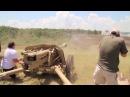 Стрельба из PAK 40 - Германская 75-мм противотанковая пушка периода Второй мировой в