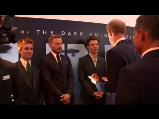 Prince Harry meets Harry Styles at Dunkirk premiere