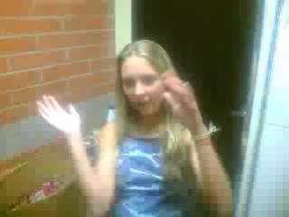 Блондинки в видеочате показывает