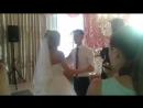 Торжество Александра и Юли, танец молодых. Съемка от почетного и не совсем трезвого свидетеля